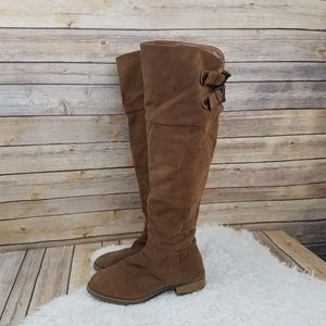 Charlotte Russe Shoes - Charlotte Russe Brown Knee High Riding Boots 7